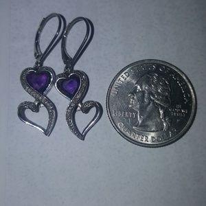 Jewelry - Amethyst Diamond Earrings